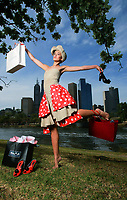 Model wearing a towel . Towels, shoes, men's shirts . . . model Silvana shows off some of the common post-Christmas retail pick-me-ups...Pic By Craig Sillitoe.09/01/2009 SPECIAL 000 melbourne photographers, commercial photographers, industrial photographers, corporate photographer, architectural photographers, This photograph can be used for non commercial uses with attribution. Credit: Craig Sillitoe Photography / http://www.csillitoe.com<br /> <br /> It is protected under the Creative Commons Attribution-NonCommercial-ShareAlike 4.0 International License. To view a copy of this license, visit http://creativecommons.org/licenses/by-nc-sa/4.0/.