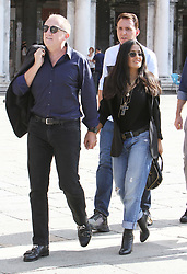Salma Hayek and Francois-Henri Pinault take a boat trip after strolling in San Marco square in Venice. 02 Sep 2018 Pictured: lma Hayek and Francois-Henri Pinault. Photo credit: AMA / MEGA TheMegaAgency.com +1 888 505 6342
