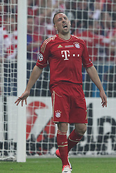 19.05.2012, Allianz Arena, Muenchen, GER, UEFA CL, Finale, FC Bayern Muenchen (GER) vs FC Chelsea (ENG), im Bild Franck RIBERY (Bayern Muenchen) aergert sich dem dem nicht gegebenen Tor // during the Final Match of the UEFA Championsleague between FC Bayern Munich (GER) vs Chelsea FC (ENG) at the Allianz Arena, Munich, Germany on 2012/05/19. EXPA Pictures © 2012, PhotoCredit: EXPA/ Eibner/ Eckhard Eibner..***** ATTENTION - OUT OF GER *****