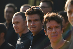 October 28, 2017 - Shanghai, China - Greg Van Avermaet (Center) from BMC Racing team, during the 1st TDF Shanghai Criterium 2017 - Media Day..On Saturday, 28 October 2017, in Shanghai, China. (Credit Image: © Artur Widak/NurPhoto via ZUMA Press)