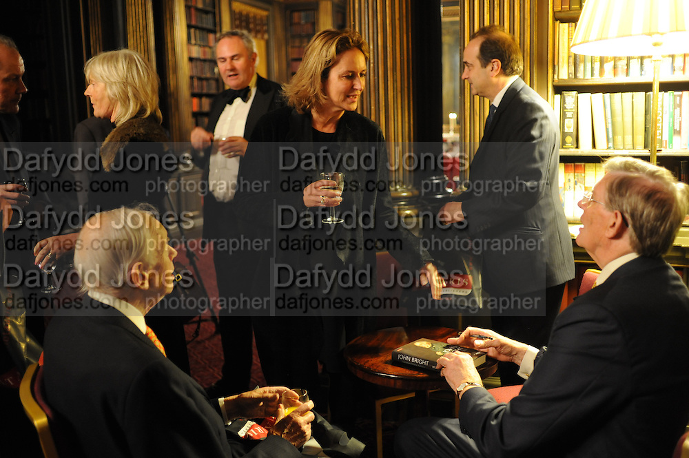 LORD NEIL; CAROLINE MICHEL; BROOKS NEWSMARK; BILL CASH, Celebration of the  200TH Anniversary of the  Birth of Rt.Hon. John Bright MP  and the publication of <br /> ÔJohn Bright: Statesman, Orator, AgitatorÕ by Bill Cash MP. Reform Club. London. 14 November 2011. <br /> <br />  , -DO NOT ARCHIVE-© Copyright Photograph by Dafydd Jones. 248 Clapham Rd. London SW9 0PZ. Tel 0207 820 0771. www.dafjones.com.<br /> LORD NEIL; CAROLINE MICHEL; BROOKS NEWSMARK; BILL CASH, Celebration of the  200TH Anniversary of the  Birth of Rt.Hon. John Bright MP  and the publication of <br /> 'John Bright: Statesman, Orator, Agitator' by Bill Cash MP. Reform Club. London. 14 November 2011. <br /> <br />  , -DO NOT ARCHIVE-© Copyright Photograph by Dafydd Jones. 248 Clapham Rd. London SW9 0PZ. Tel 0207 820 0771. www.dafjones.com.