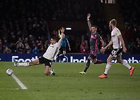 Football - 2019 / 2020 Sky Bet (EFL) Championship - Fulham vs. Leeds United<br /> <br /> Aleksandar Mitrovic (Fulham FC) slides the ball home but is given offside at Craven Cottage<br /> <br /> COLORSPORT/DANIEL BEARHAM