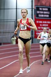 David Hemery Valentine Invitational<br /> Indoor Track & Field at Boston University , womens 3000 meters, heat 1, Atlanta TC, Mizuno, Ellie Abrahamson,