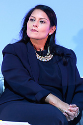 "© Licensed to London News Pictures. 26/10/2016. PRITI PATEL MP, Secretary of State for International Development speaks at the Joint Session Grand Challenges and Keystone Symposia ""Translational Vaccinology in Global Health"" conferences, October 26, 2016, London, UK.""<br /> <br /> London, UK. Photo credit: Ray Tang/LNP"