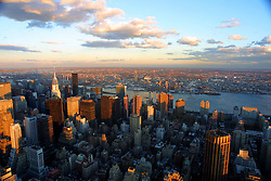 New York skyline as seen from the top of the Empire State Building at the end of the 20th of November, 2001.