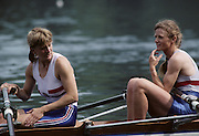 Lucerne, SWITZERLAND  GBR LW2X.  Bow Helen MANGAN. 1992 FISA World Cup Regatta, Lucerne. Lake Rotsee.  [Mandatory Credit: Peter Spurrier: Intersport Images] 1992 Lucerne International Regatta and World Cup, Switzerland
