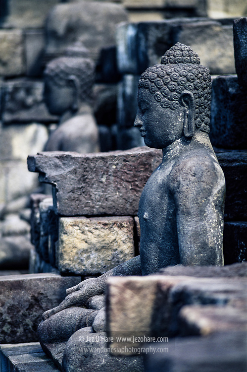 Buddha statue, Borobudur temple, Magelang, Central Java, Indonesia