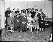 10/09/1952.09/10/1952.10 September 1952.Wedding of Denis Meehan and Mary Gaine, 3 Blackheath Ave., Clontarf,  at St. Anthonys Church, Clontarf and the Metropole