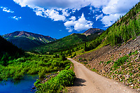 Along the Alpine Loop leading to American Basin and Cinnamon Pass in the San Juan Mountains (range of the Rocky Mountains), Southwest Colorado USA