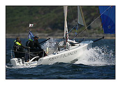 Sailing - The 2007 Bell Lawrie Scottish Series hosted by the Clyde Cruising Club, Tarbert, Loch Fyne..Brilliant first days conditions for racing across the three fleets...Sportboat 1, Melges 24 Risky Business GBR337..