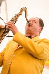 """BIG"" John Fordham Tenor & Baritone, Saxaphone, Clarinet and Irish Fiddle..9 September 2012.Image © Paul David Drabble"