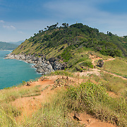 Natural hiking trail on Promthep cape, Phuket, Thailand