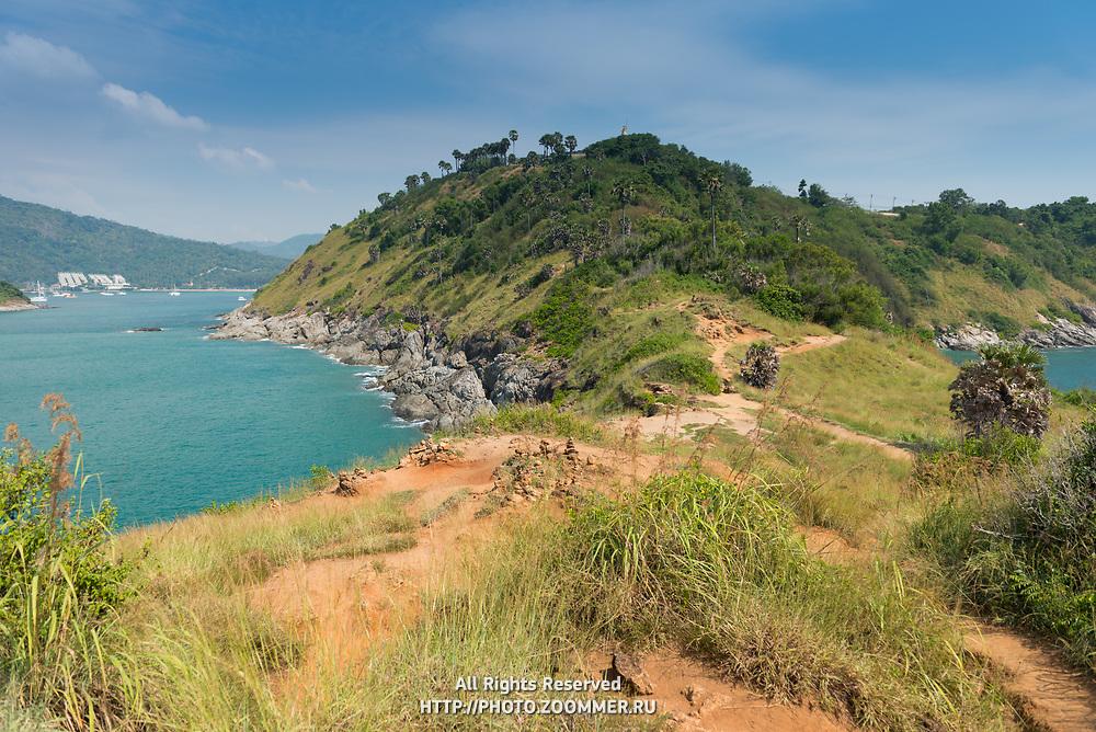 Natural hiking trail on Promthep cape, Phuket, Thailand