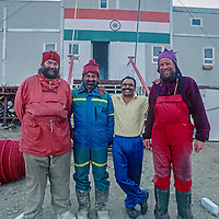 Mike Sharp and Jonathan Walton at Maitri Science Base (India), in Queen Maud Land, Antarctica.