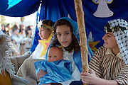 Israel, Galilee, Nazareth, The Christmas parade December 24th 2007. The Nativity show
