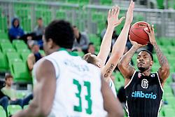 Aubrey Coleman #6 of Cimberio Varese during basketball match between KK Union Olimpija and  Cimberio Varese (ITA) of 1st Round of Regular season of EuroCup 2013/2014 on October 16, 2013, in SRC Stozice, Ljubljana, Slovenia. (Photo by Urban Urbanc / Sportida)
