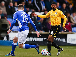 Bristol Rovers' Angelo Batanta attacks - Photo mandatory by-line: Neil Brookman/JMP - Mobile: 07966 386802 - 28/03/2015 - SPORT - Football - Macclesfield - Moss Rose - Macclesfield Town v Bristol Rovers - Vanarama Football Conference
