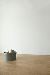 Empty room new home moving in paint pot