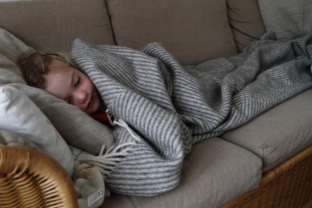 Aarhus, Denmark, June 13rd, 2010. Aja sleeping after a long day..