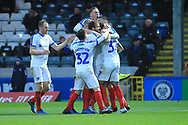 GOAL Andre Green celebrates a last minute winner  during the The FA Cup 2nd round match between Rochdale and Portsmouth at Spotland, Rochdale, England on 2 December 2018.
