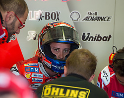 October 20, 2017 - Melbourne, Victoria, Australia - Italian rider Andrea Dovizioso (#4) of Ducati Team in his garage with his team during the firsts free practice session of the MotoGP class at the 2017 Australian MotoGP at Phillip Island, Australia. (Credit Image: © Theo Karanikos via ZUMA Wire)
