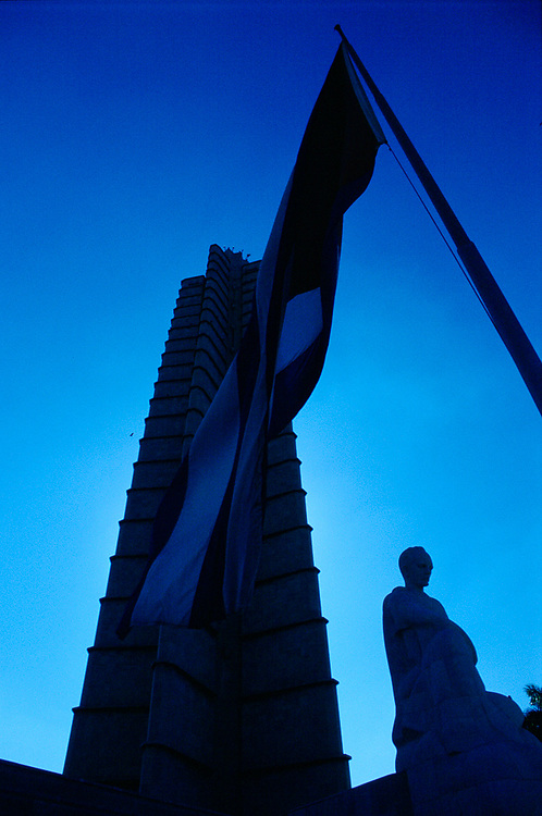 Jose Marti Memorial in Silhouette.