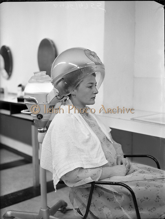 Being 'beautified' at the Jewel Hair Salon..26.07.1960