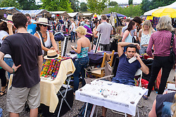 Weekend fleamarket at at Mauerpark in Prenzlauer Berg in Berlin Germany