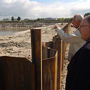 Project kop Oude Haven Huizen rondleiding wethouder Frans van der Kolk