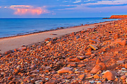 sandy shoreline along the Gulf of St. Lawrence<br />Cable Head<br />Prince Edward Island<br />Canada