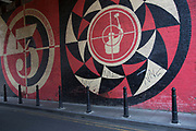 Street art by Obey in Shoreditch, East London, United Kingdom. Street art in the East End of London is an ever changing visual enigma, as the artworks constantly change, as councils clean some walls or new works go up in place of others. While some consider this vandalism or graffiti, these artworks are very popular among local people and visitors alike, as a sense of poignancy remains in the work, many of which have subtle messages.