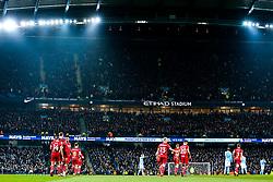 General View of the away end after Bobby Reid of Bristol City scores a goal to make it 0-1 - Rogan/JMP - 09/01/2018 - Etihad Stadium - Manchester, England - Manchester City v Bristol City - Carabao Cup Semi Final First Leg.