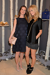 Left to right, sisters CHLOE GRANT and POPPY DELEVINGNE at a Dinner to celebrate the launch of the Mulberry Cara Delevingne Collection held at Claridge's, Brook Street, London on 16th February 2014.