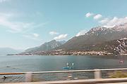 Como Lake, riding on Arno's Guzzi
