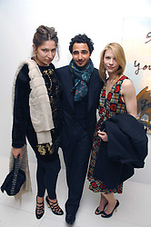 Left to right, STELLA SCHNABEL, ZAC POSEN and CLAIRE DAINES at an exhibition of paintings by artist Rene Richard at the Scream Gallery, Bruton Street, London on 3rd April 2008.<br /><br />NON EXCLUSIVE - WORLD RIGHTS
