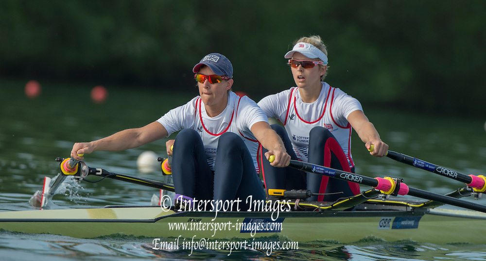Caversham. Reading. BR W2X, left Katherine GRAINGER and Vicky THORNLEY. GBRowing  European Team Announcement, GB Training Base Reading. 13.05.2015. Wednesday. [Mandatory Credit: Peter Spurrier/Intersport-images.com
