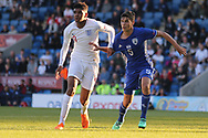 Tyreece John-Jules of England (9) and Rony Laufer of Israel (5) during the UEFA European Under 17 Championship 2018 match between England and Israel at Proact Stadium, Whittington Moor, United Kingdom on 4 May 2018. Picture by Mick Haynes.