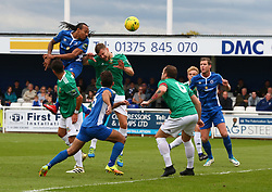 October 7, 2017 - Billericay, England, United Kingdom - Ricky Modeste of Billericay Town scores his sides first goal  .during Bostik League Premier Division match between Billericay Town against Hendon FC at New Lodge Ground, Billericay on 07 Oct 2017  (Credit Image: © Kieran Galvin/NurPhoto via ZUMA Press)