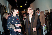 ERIN O'CONNOR; DAVID DOWNTON, Lulu Guinness And Rob Ryan Fan Bag - Launch Party. Air Gallery. London. 10 November 2010.  -DO NOT ARCHIVE-© Copyright Photograph by Dafydd Jones. 248 Clapham Rd. London SW9 0PZ. Tel 0207 820 0771. www.dafjones.com.