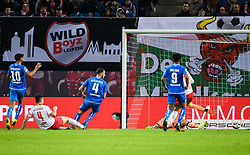 LEIPZIG, Feb. 26, 2019  Leipzig's Willi Orban (2nd L) scores during a German Bundesliga match between RB Leipzig and TSG 1899 Hoffenheim in Leipzig, Germany, on Feb. 25, 2019. The match ended in a 1-1 draw. (Credit Image: © Kevin Voigt/Xinhua via ZUMA Wire)
