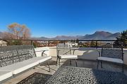 beautiful terrace with garden furniture, outside