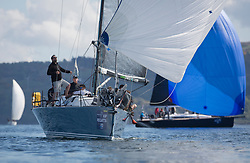 Lights winds dominated the Pelle P Kip Regatta  at Kip Marine weekend of 12/13th May 2018<br /> <br /> GBR7737R, Aurora, Rod Stuart / A Ram, CCC, Corby 37<br /> <br /> Images: Marc Turner