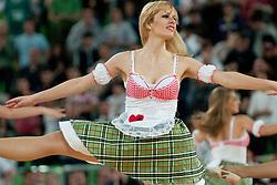 Cheerleaders during final match of Basketball NLB League at Final Four tournament between KK Union Olimpija (SLO) and Partizan Belgrade (SRB), on April 21, 2011 at SRC Stozice, Ljubljana, Slovenia. (Photo By Matic Klansek Velej / Sportida.com)