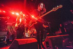 Lead vocalist guitarist Danielle Haim and Este Haim performs on stage.<br /> Haim play on stage at Glasgow's O2 ABC on Sauchiehall Street.