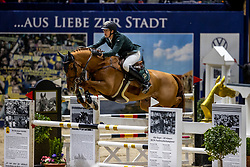 LAHDE Harm (GER), Oak Grove's Laith<br /> Grand Prix von Volkswagen<br /> Int. jumping competition over two rounds (1.55 m) - CSI3*<br /> Comp. counts for the LONGINES Rankings<br /> Braunschweig - Classico 2020<br /> 08. März 2020<br /> © www.sportfotos-lafrentz.de/Stefan Lafrentz