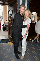 ANDREW CASTLE and his wife SOPHIA at the opening night of Breakfast at Tiffany's at The Theatre Royal, Haymarket, London on 26th July 2016.