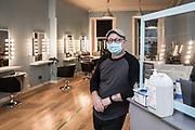 Derek Gault, co-owner DNA hairdresser, Leith Edinburgh