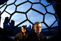 Jazz Festival. Young, talented program director Sophie Braus together with this years Festival Artist in Residence - Charlie Haden - one of the most significant and influential musicians in jazz history, at the Melbourne Recital Centre     Pic By Craig Sillitoe    24/04/2009 SPECIAL 000  Pic By Craig Sillitoe CSZ / The Sunday Age melbourne photographers, commercial photographers, industrial photographers, corporate photographer, architectural photographers, This photograph can be used for non commercial uses with attribution. Credit: Craig Sillitoe Photography / http://www.csillitoe.com<br /> <br /> It is protected under the Creative Commons Attribution-NonCommercial-ShareAlike 4.0 International License. To view a copy of this license, visit http://creativecommons.org/licenses/by-nc-sa/4.0/.