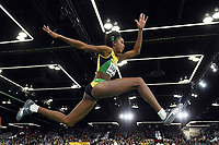 SHanieka Thomas from Jamaica competes in the triple jump during the IAAF World Indoor Championships at Oregon Convention Center, in Portland, USA, on March 19, 2016 - Photo Philippe Millereau / KMSP / DPPI