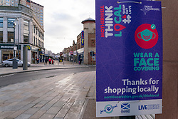 Motherwell, Scotland, UK. 25 November 2020. Motherwell  Shopping Centre in North Lanarkshire, very quiet during severe level 4 lockdown imposed by the Scottish Government.  Non essential businesses , bars, restaurants and shops are closed. Much of the central regions of Scotland are under the highest level of lockdown.  Credit.  Iain Masterton